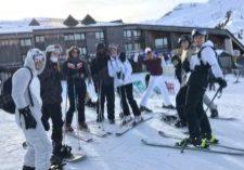 Les étudiants réunis à l'occasion de l'université d'hiver 2020 à Samoëns